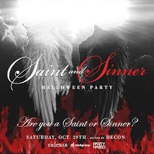 saint u0026 sinner halloween party at sidebar tickets side bar