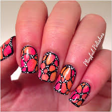 playful polishes butterfly nail art