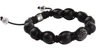onyx bracelet with diamonds images Shamballa jewels black onyx black diamond bead bracelet in black jpeg