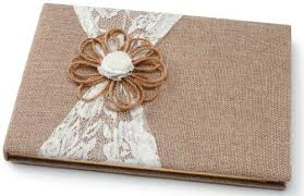 wedding registry books darice david tutera burlap and lace guest book to and hold