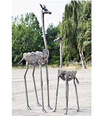 metal giraffe ring holder images Recycled metal plant holders african sculpture garden art jpg