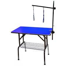 large dog grooming table emperor grooming tables blue large emperor pro dog grooming table