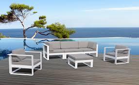 canape jardin aluminium salon de jardin aluminium haut de gamme 5 places st tropez