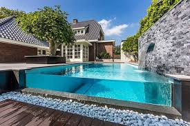 home design backyard ideas with pools and patio tv above