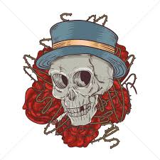 skull tattoo design vector image 1435001 stockunlimited