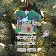 lake cabin family of 4 home house personalized
