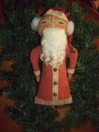 primitive kris kringle santa ornament doll santa