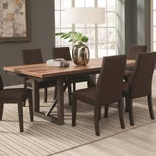 Dining Room Tables With Extension Leaves by Coaster Spring Creek Dining Table With 18 U0027 U0027 Extension Leaf Value