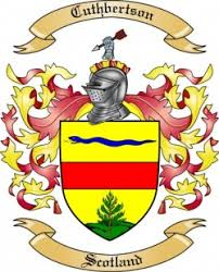 cuthbertson family crest from scotland by the tree maker