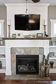marvelous fireplace mantel ideas with tv above pictures