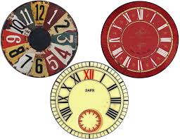 printable antique clock faces new years free clock face printables cd size and plate