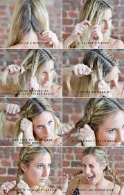 step by step braid short hair milkmaid braids for short or fine hair