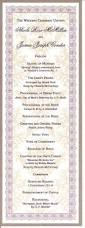 Printing Wedding Programs Custom Designed Wedding Program By Piedmont Litho Deisgn And