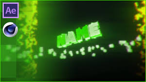 fire green cinema 4d u0026 after effects intro template free