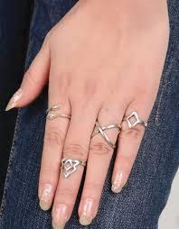 ring finger rings images New design vintage rings set 4pcs boho style women geometric jpg