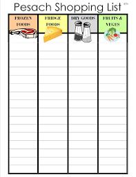 a jewish homeschool blog chol hamoed menu and pesach shopping list