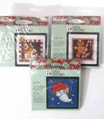 3 engelbreit ornaments bucilla cross stitch kits snowman