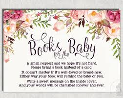 boho baby shower invitation insert bring a book instead of a