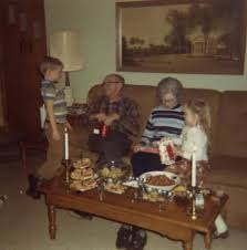 vintage christmas photo 1970 i swear we had this same ugly couch
