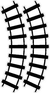 peel stick curved train track