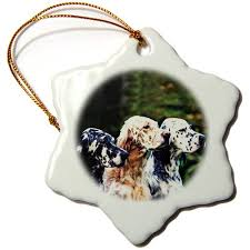 buy setter standing ornament 083158 personalized with your