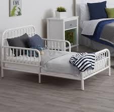 Metal Frame Toddler Bed White Toddler Bed Frame Rail Base Set Boy Vintage Metal Child