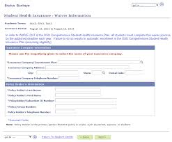 enter waiver information student health insurance assist