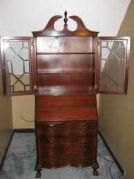 antique secretary cabinet with drop down desk for sale antiques