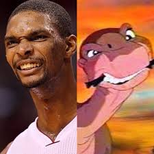 Chris Bosh Memes - chris bosh looks like little foot from the land before time meme
