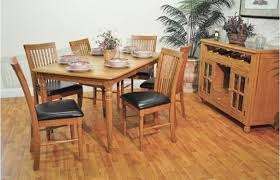 Light Oak Dining Room Sets by Table Set With Pull Shelf Server U2013 Unclaimed Freight Co