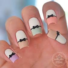 55 bow nail art ideas pastels bow nail art and manicure