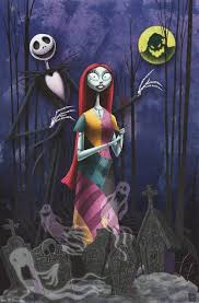 nightmare before and sally poster 22x34 sally
