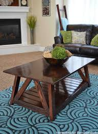 Free Wood Plans Coffee Table by Remodelaholic Diy Slat Coffee Table