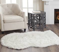 Rugs For Living Room by Decorating Cream Faux Sheepskin Rug For Stunning Floor Decoration