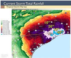 rainfall totals map no longer a tropical harvey leaves reeling by bob