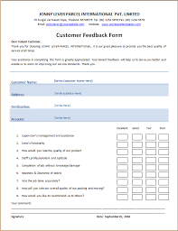 Customer Management Excel Template Customer S Feedback Form Word Excel Templates