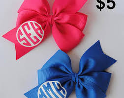 custom hair bows school girl hair bow etsy