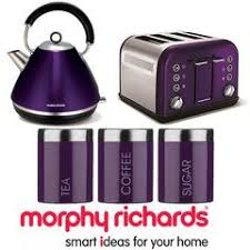 Morphy Richards Accents Toaster Morphy Richards Accents Purple Plum 1 5l Kettle 4 Slot Toaster U0026 3