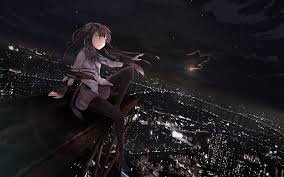 anime halloween night background art girls car night anime hd wallpaper 57050