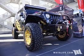 jeep kaiser lifted 2017 sema vision wheels black jeep jk wrangler unlimited