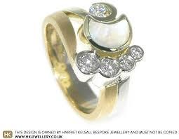 engagement ring uk bespoke 9ct white gold sun moon and inspired engagement ring