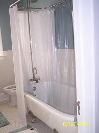 Clawfoot Tub Shower Curtain Liner Hookless Shower Curtain For Clawfoot Tub Clawfoot Tub Shower