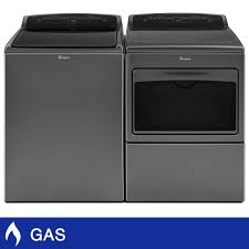 whirlpool 4 8cuft top load washer 7 8cuft gas dryer with hamper