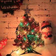 aliexpress com buy 50cm artificial christmas tree led multicolor