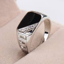 gents ring finger men ring rhinestone rectangle finger ring alex nld