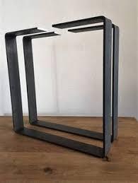 pre turned table legs 28 trapezoid table legs flat steel powder coated set2 by balasagun