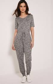 casual jumpsuits basic grey marl casual jumpsuit jumpsuits playsuits
