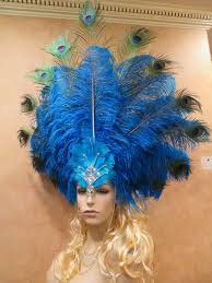 Halloween Express Nashville Tennessee by Authentic Peacock Vegas Showgirl Costume Headdress Samba