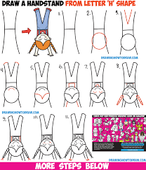 how to draw a cute cartoon kawaii doing a handstand from the