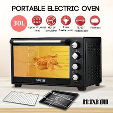 Portable Toaster Oven Maxkon 30l Portable Electric Oven 1600w Convection Oven Toaster